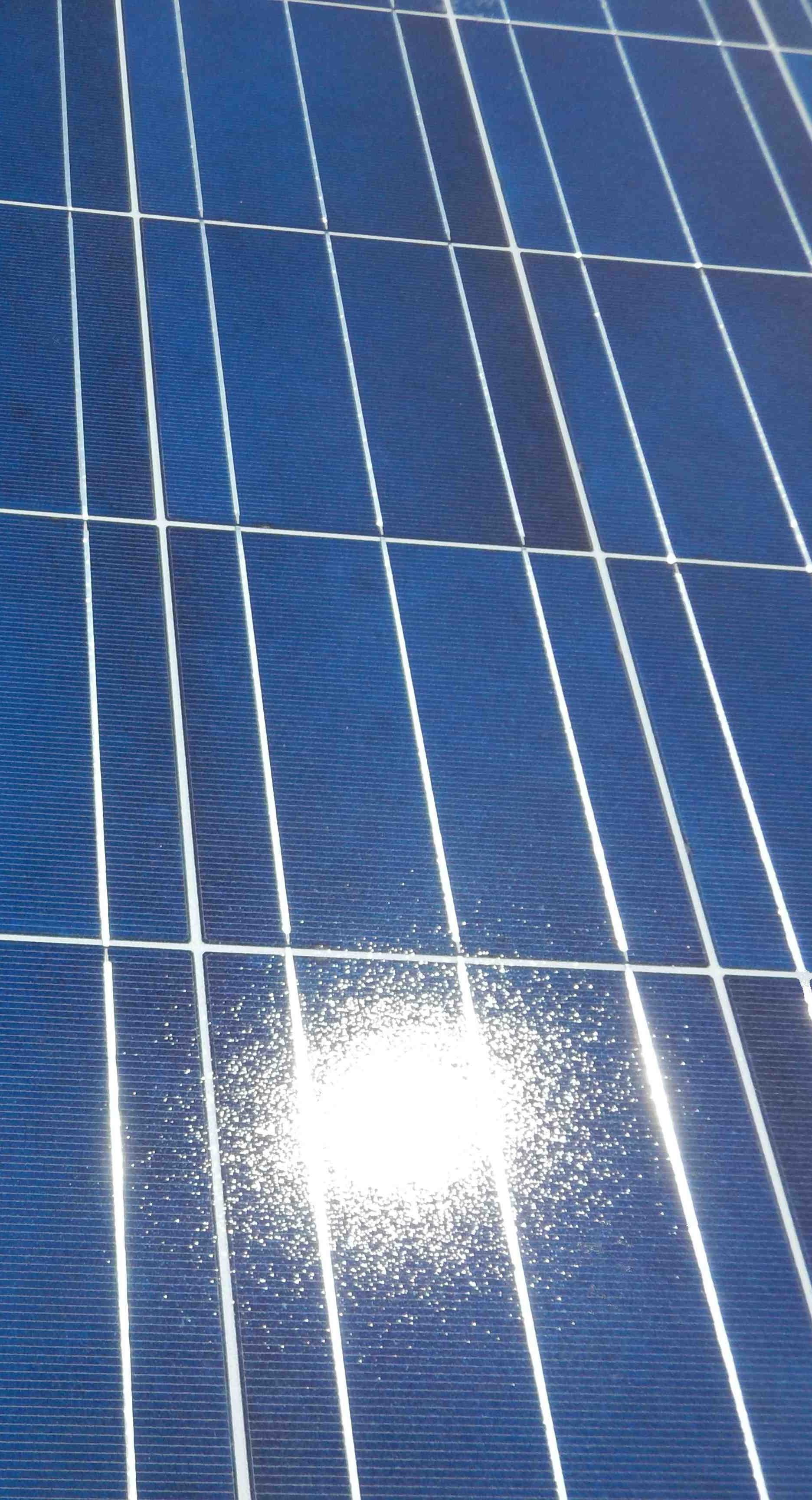 PV panelen met zon